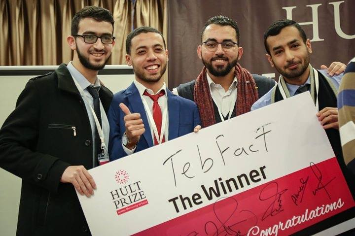 "Medical students from IUG win the first place in ""Hult Prize"" competition"